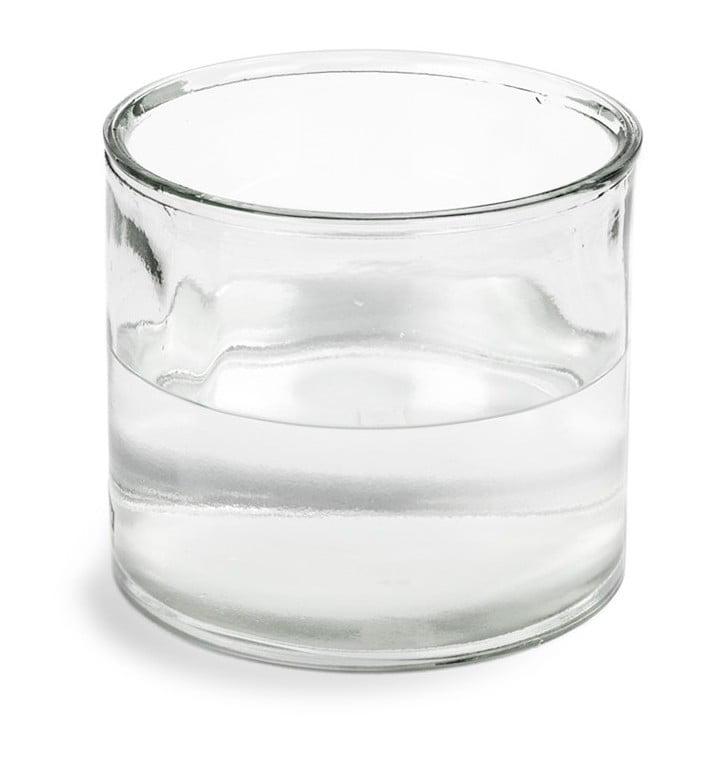 Vase rond en verre villa florale - Vase rond en verre ...