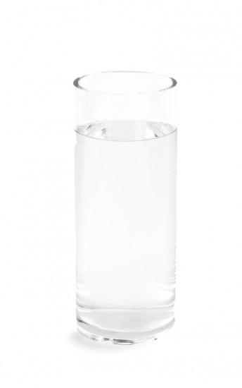 Vase haut rond en verre