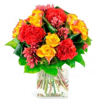 Bouquet rond Caramel
