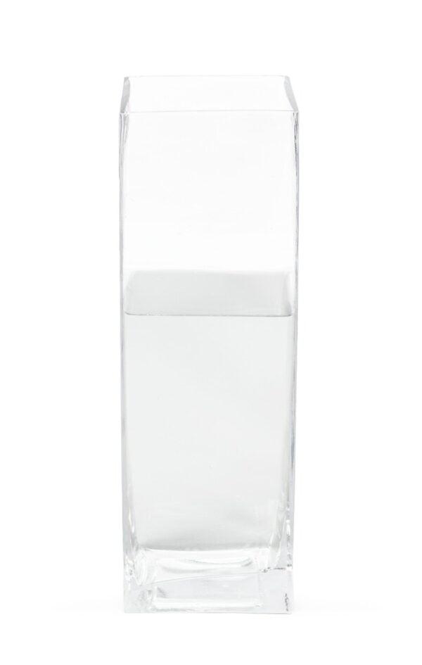 Vase haut carré en verre