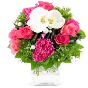 Bouquet rond Églantine