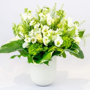 Élégant : Bouquet flou blanc et vert