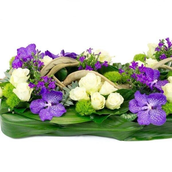 Le coussin rectangle violet - Deuil